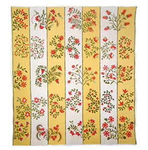 Trellis of Red Flowers quilt image